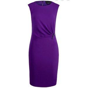 Carlisle Gramercy Purple Pleated Cocktail Dress